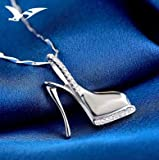 Davitu 925 Sterling Silver Necklace High Heel Shoe Pendant - Print on Demand (Customization/Personalization) for Shopify Dropshipping