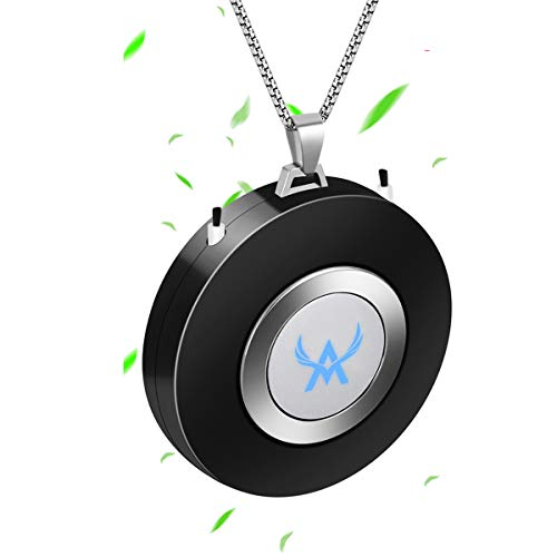 Mini Portable Air Purifier Wearable Air Purifier Necklace USB Air Cleaner Negative Ion Generator Personal Air Freshener for Adult,Kids(Black)