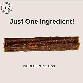 Bâtonnets à mâcher pour chiens – 100% naturels, viande de boeuf séchée – Un seul ingrédient – 1 paquet = env. 24 bâtonnets à mâcher délicieux, sains, croquants pour votre chien ou chiot (5 Pack)