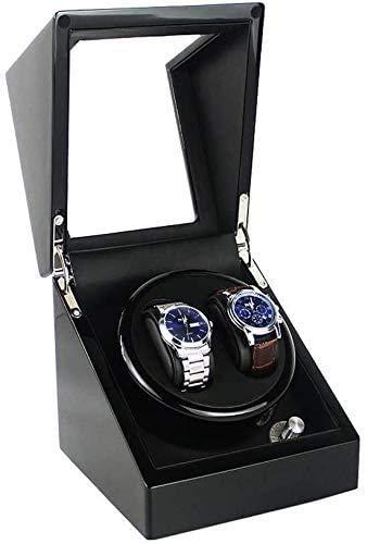 YUYANDE Reloj Rinder para Solo automáticos, Relojes con Motores tranquines, Relojes de Almacenamiento de Almacenamiento Relojes de rotación Negra Caja de Almacenamiento Caja de Reloj Negro