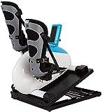 CCLLA Máquina de rehabilitación eléctrica, Mini Bicicleta de Ejercicios portátil para Ejercicios, Ejercitador de Pedal motorizado para piernas y Brazos para Personas Mayores, Ejercitador de Pedal *1