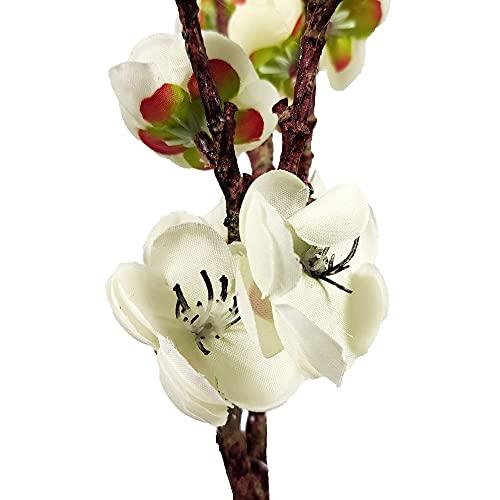 Flor de ciruela, altura 62 cm, dimetro 4,5 cm, borgon 1 cm, adecuado para la decoracin de bodas de oficina en casa, 1 disfraz (blanco + rojo).