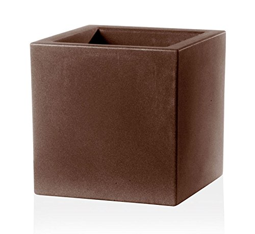 Teraplast Bac a Fleurs Schio Cubo 30 cm Made in Italy recyclable