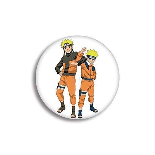 Insignia de anime Insignia de Naruto I Love Luo Costilla de adivinación Naruto Insignia Broches para mujer Colgante Pin-Pink