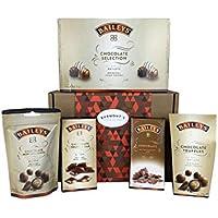 La Cesta De Chocolate Definitiva Baileys - Incluye Caja De Chocolates, Trufas, Minidelicias, Chocolate De Caramelo Salado Y Trufa - Cesta Exclusiva Para Burmont