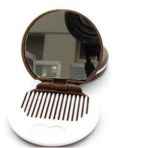 LinZX Spiegel mit Kamm Mini-Tasche Schokoladen-Plätzchen Biscuits Compact Spiegel mit Kamm
