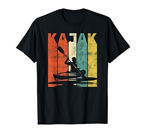 Retro Kajak Kanu Kajakfahren Geschenk T-Shirt