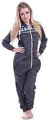 Adult onesie with hood Womens Onesie Fashion Playsuit Ladies Jumpsuit