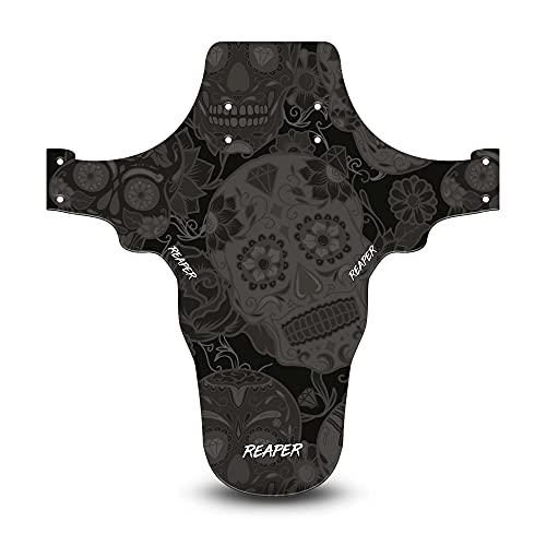 Reaper Accessories Guardabarros Delantero de Bicicleta de montaña de fácil Ajuste - Fits 24', 26' & 27.5' - Candy Skull Stealth Pro