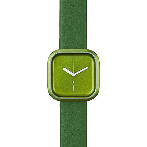 Hygge Väri, Forrest, colore: verde-Orologio Unisex al quarzo con Display analogico e cinturino in pelle, colore: verde, HE-02-075