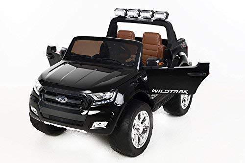 RC Auto kaufen Kinderauto Bild 2: RIRICAR Ford Ranger Wildtrak 4X4 LCD Luxury, Elektro Kinderfahrzeug, LCD-Bildschirm, schwarz - 2.4Ghz, 2 x 12V, 4 X Motor, Fernbedienung, 2-Sitze in Leder, Soft Eva Räder, Bluetooth*