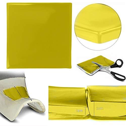 Domybest - Cojín de gel para moto, absorbente de choque, para asiento de moto, cojín de gel de asiento de moto, cómodo, color amarillo