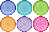 idea-station Neo Assiette Plastique 6 Pieces, 17.5 cm, Couleur, reutilisable, Rigide,...