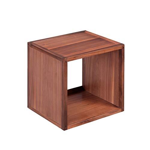 Gabinete de almacenamiento LP de madera maciza de 12 pulgadas con capacidad para 40 discos de vinilo Cafetería Salón de baile Hotel Caja de presentación de CD de gran capacidad ( Color : Wood Color )