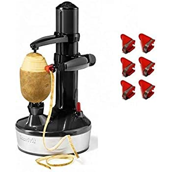 Starfrit Rotato Express 2.0 + 6 Replacement Blades   Updated Model - Electric Peeler