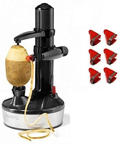 Starfrit Rotato Express 2.0 + 6 Replacement Blades | Updated Model - Electric Peeler