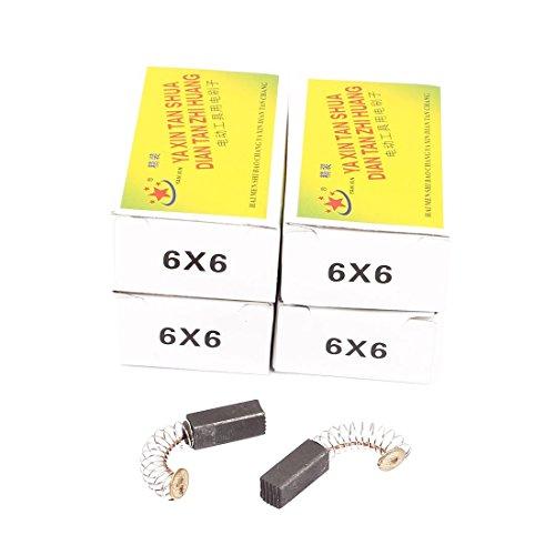 DealMux 5 pares de herramientas eléctricas de escobillas de carbón de 17x6x6...