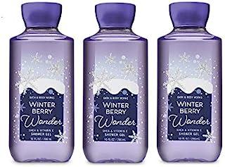 Lot of 3 Bath & Body Works Winterberry Wonder Shea & Vitamin Shower Gel (Winterberry Wonder)