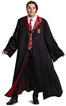 Disguise unisex adult Harry Potter Gryffindor Robe Prestige Accessory Costume Outerwear Black & Red Medium 38-40 US