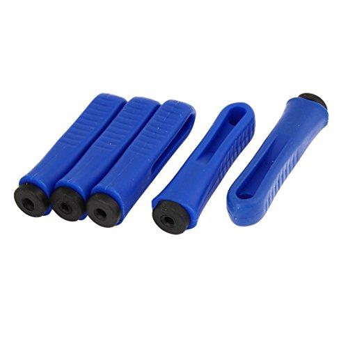 sourcing map 5pcs 5mm Diamètre trou caoutchouc antidérapant poignées plastique bleu Fichier remplacement