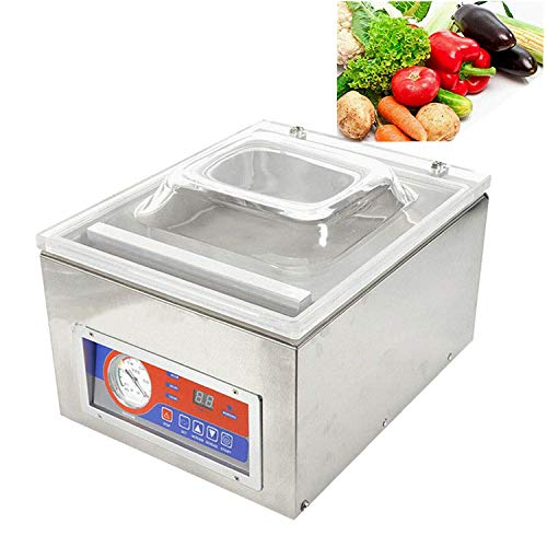 Vacuum Sealer Machine - Commercial Kitchen Food Chamber Multifunction Tabletop Seal Vacuum Packaging Machine Sealer for Restaurant Use 120W