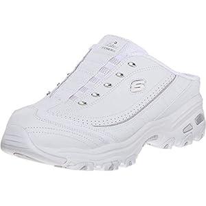 Skechers Sport Women's D'lites Bright Sky Fashion Sneaker, White/Silver, 9 W US