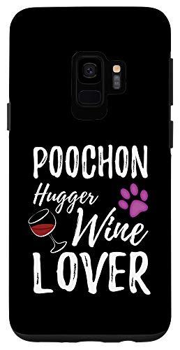 Galaxy S9 Poochon Hugger Wine Lover Dog Mom or Dog Dad Case