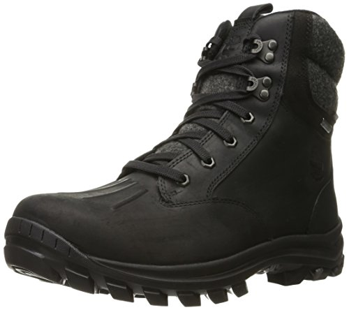 Timberland Men's Chillberg Mid WP Insulated Snow Boot, Black Connection Full Grain, 8 M US
