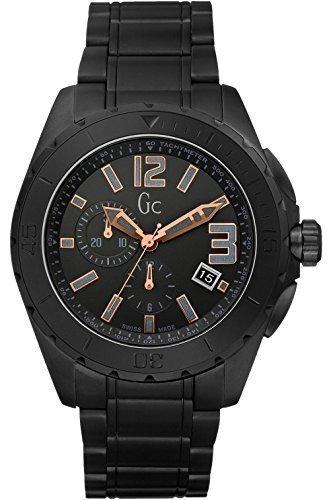 Guess Collection GC X76009G2S Zwart Keramische Chronograaf Zwitsers Horloge voor heren
