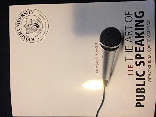 ART OF PUBLIC SPEAKING-TEXT >CUSTOM< by Lucas - Adler - Elmhorst (2012-05-03)