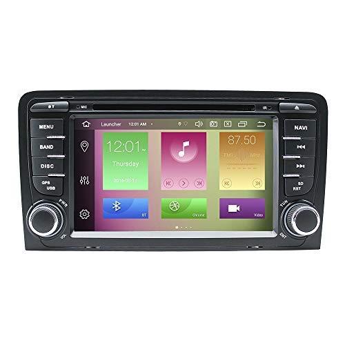 "BOOYES Für Audi A3 S3 2002-2013 Android 10.0 Octa Core 4 GB RAM 64 GB ROM 7\""Auto DVD-Player Multimedia-GPS-System Autoradio Stereo Doppel-Din-Unterstützung Auto Auto Play/TPMS/OBD / 4G WiFi/DAB"