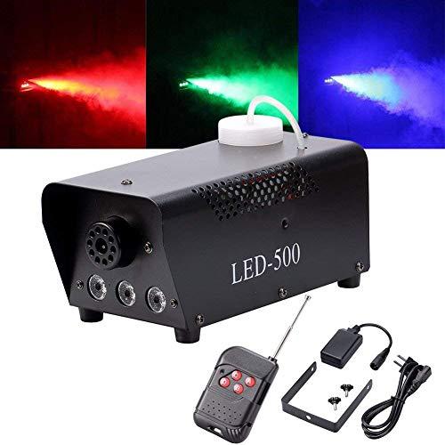 UKing Máquina de humo 500W LED Negro RGB Control Remoto Buena Atmósfera para Varios Festivales Party Bar Disco Clubs Escena de la Boda