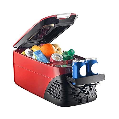 SHUHANG Compresor portátil 8L refrigerador de Coche con Pantalla LED Digital Control preciso de Cada frío y cálido (Color : Red, Size : 49.3X24.8X22cm)