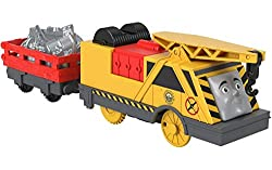 Create exciting Thomas & Friends adventures with this battery-powered, motorized toy crane Push the switch on top of the vehicle to send Kevin and his cargo racing along on an exciting journey This motorized toy crane is compatible with all TrackMast...