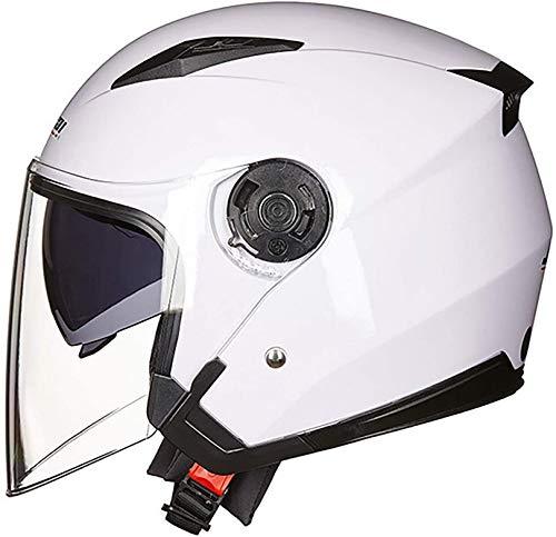 QDY Motorcycle Half Helmet,Adult Vintage Jet Motorcycle Helmet Men Women Half Face Motorbike Helmet for Biker Chopper Cruiser Scooter Moto Cap with Visor Dot/ECE Approved