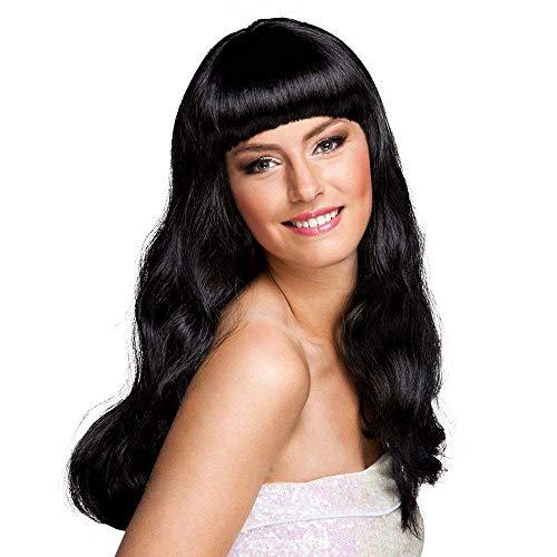 Boland 85865 – Perruque Chic, Cheveux Longs avec Frange, Noir