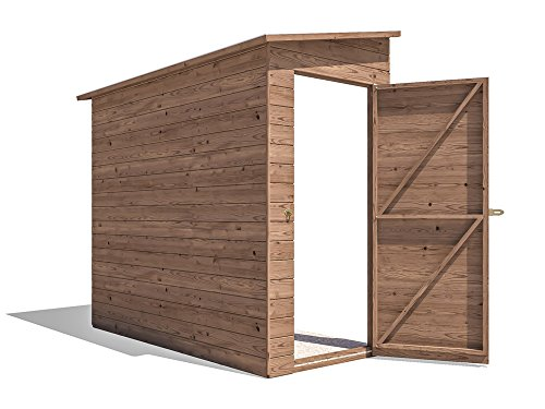 Dunster House 3 Sided Pent Shed Pressure Treated Shiplap Cladding Storage - Anya (Left 8x4)