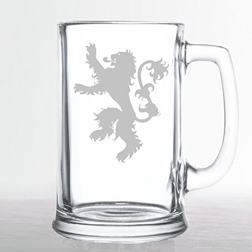 Very popular! Game of Thrones - House Mug Etched Ranking TOP10 Lannister Beer