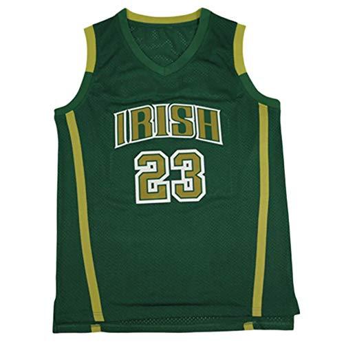 QIMEI Custom Men's Lebron #23 High School Basketball Jersey Men M Green