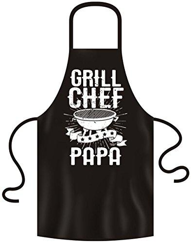 Soreso Design Grill Chef Papa Grillschürze für Männer : Grillzubehör - lustiges Geschenk Mann Farbe: schwarz