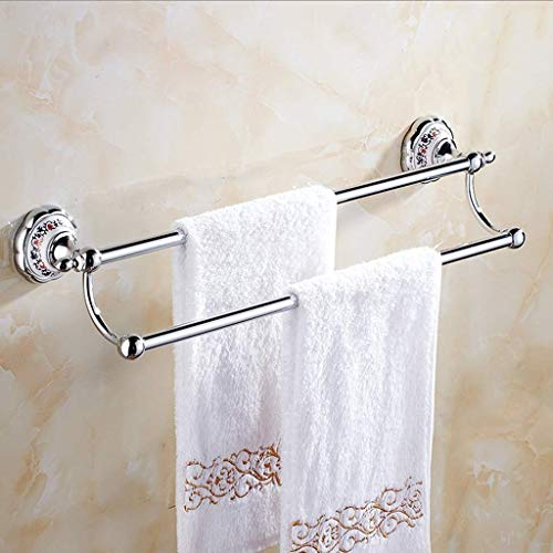 HAILI Rejilla para guardar toallas / Todo Varilla de cobre flor del color Porcelana estante de toalla porcelana azul y blanca Polo Doble Oro de baño accesorios de baño toallero 63cm libre del sacador
