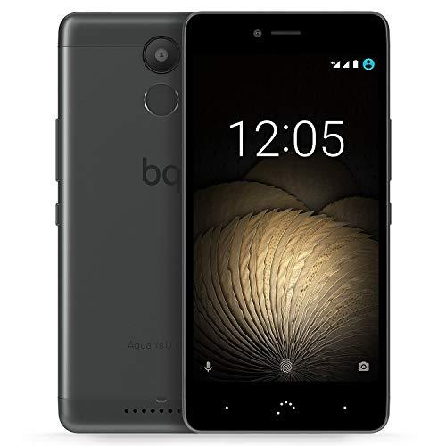BQ Aquaris U plus Smartphone (12,7 cm (5 Zoll) Bluetooth, Qualcomm Snapdragon 430 Octa Core, 32 GB Speicher, 3 GB RAM, 16 MP Kamera, Multitouch, Android 6.0.1 Marshmallow), Schwarz & Anthrazit