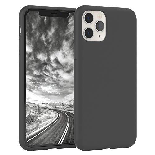 EAZY CASE Premium Silikon Handyhülle kompatibel mit Apple iPhone 11 Pro, Slimcover mit Kameraschutz & Innenfutter, Silikonhülle, Schutzhülle, Bumper, Handy Hülle, Hülle, Softcase, Anthrazit