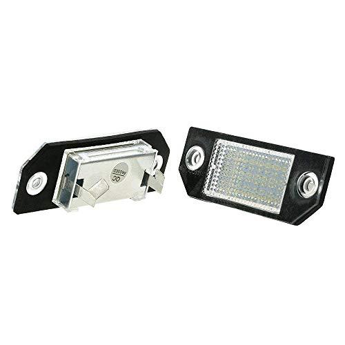 GZLMMY Lot de 2 ampoules LED pour plaque d'immatriculation Mondeo MK3 MKIII 4/5D 2000-2007 12 V 24SMD Blanc
