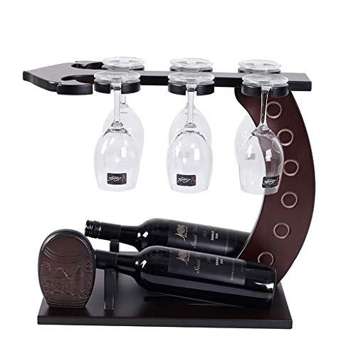 Donker Rood Effen Hout Wijnglas Houder Voor Huishoudelijke Wijnglas Ophangrek Geschikt Voor Restaurant Keuken Bar LITTLE