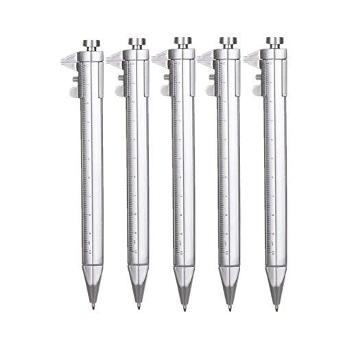 5PCS vernier 0100mm pinza herramienta de bolígrafo de pinza multiusos para estudiantes creativos