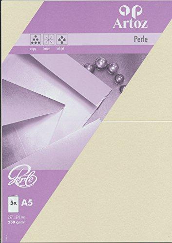 Artoz Papier AG - Doppelkarte A5 Perle 5er-Pack ivory