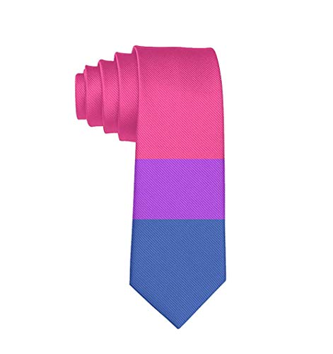 Tie Funny Neckties Colorful Bisexual Pride Flag Fashion Wide Novelty Neck Ties For Men teen