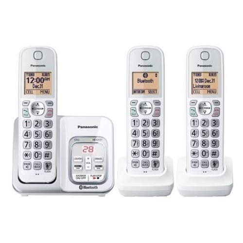 Panasonic KX-TG833SK1 Link2Cell with Voice Assist Answering System Talking Caller ID 3 Handset...