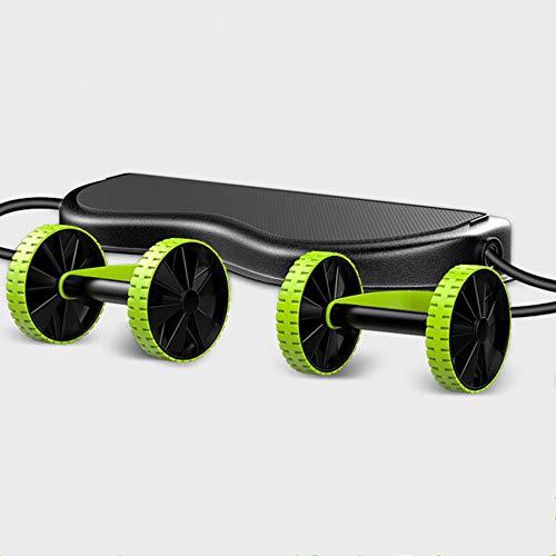 ESF Automatisch Rebound Abdominal Fitness Wheel, Silent Haushalt Bauchmuskel Wheel Abdominal Curl Belly Thin Arm Belly Weibliche Roller Sport Fitnessgeräte